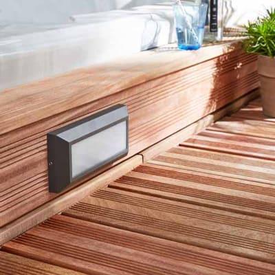 Applique Bronson LED integrato in alluminio, grigio, 11W IP44 INSPIRE