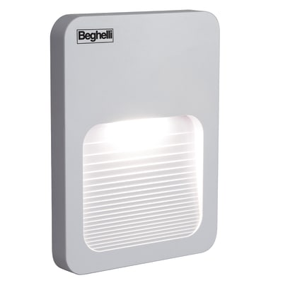 Applique Stepled LED integrato in plastica, bianco, 1.5W 60LM IP44