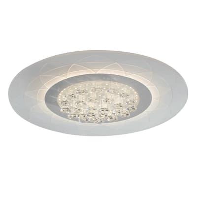 Plafoniera barocco Himalaya LED integrato bianco, in metacrilato,  D. 50 cm