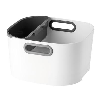 Bacinella in plastica 9 L bianco/grigio