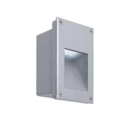 Faretto da incasso da esterno rettangolare Wall LED integrato in alluminio, grigio,  diam. 0 cm 11.6x18.2cm 2.4W 5LM IP44 PAULMANN