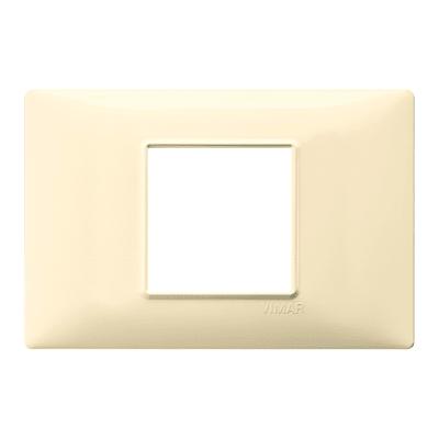 Placca VIMAR Plana 2 moduli crema