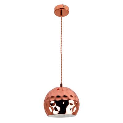 Lampadario Billa rame, in metallo, diam. 30 cm, E27 MAX42W IP20