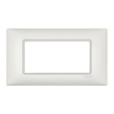 Placca VIMAR Plana 4 moduli argento perlato