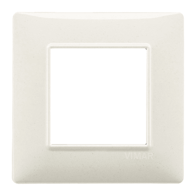 Placca VIMAR Plana 4 moduli bianco granito
