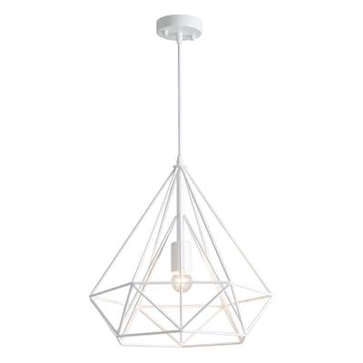 Lampadario Design Cage bianco in metallo, D. 37 cm, ON