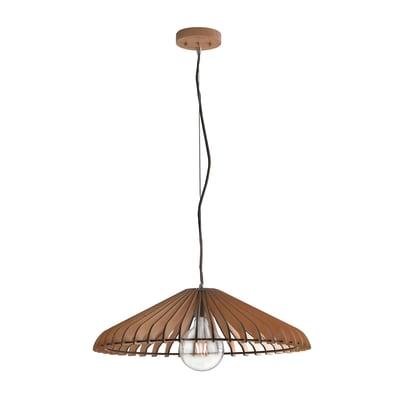 Lampadario Calder  marrone, in legno, diam. 50 cm, E27 MAX42W IP20