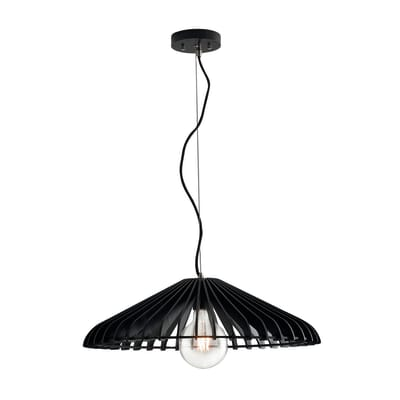 Lampadario Bohème Calder  nero in legno, L. 120 cm, FAN EUROPE