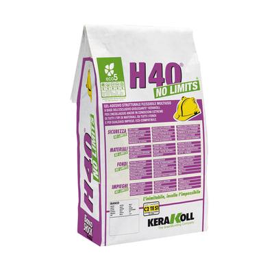 Colla in polvere H40 No Limits KERAKOLL 5 kg bianco