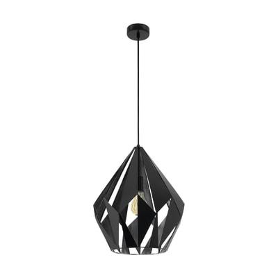 Lampadario Design Carlton  nero in metallo, D. 38.5 cm, EGLO