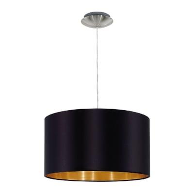 Lampadario Maserlo nero, oro, in acciaio inossidabile, diam. 38 cm, E27 MAX60W IP20 EGLO