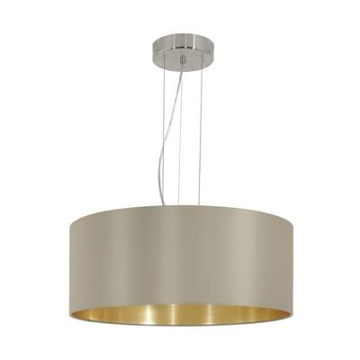 Lampadario Glamour Maserlo oro, tortora in acciaio inossidabile, D. 30.5 cm, 3 luci, EGLO