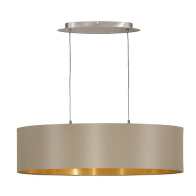 Lampadario Maserlo oro, tortora, in acciaio inossidabile, diam. 78 cm, E27 2xMAX60W IP20 EGLO