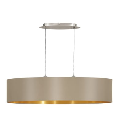 Lampadario Maserlo oro, tortora, in acciaio inossidabile, diam. 100 cm, E27 2xMAX60W IP20 EGLO