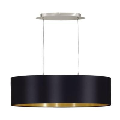 Lampadario Maserlo nero, oro, in acciaio inossidabile, diam. 78 cm, E27 2xMAX60W IP20 EGLO