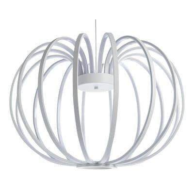 Lampadario Mercure bianco, in acrilico, diam. 52 cm,  LED 1 luceLUSSIOL