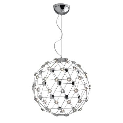 Lampadario Moles alluminio, in acrilico, diam. 55 cm,  LED 1 luce