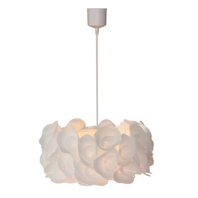 Lampadario Mussel bianco, in plastica, diam. 50 cm, E27 MAX60W IP20 INSPIRE