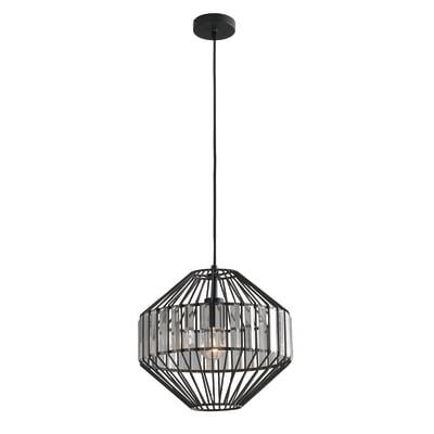 Lampadario Opium  nero, trasparente, in metallo, diam. 33.5 cm, E27 MAX42W IP20