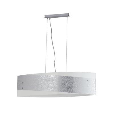 Lampadario Paris alluminio, grigio, in vetro, diam. 75 cm, E27 4xMAX42W IP20