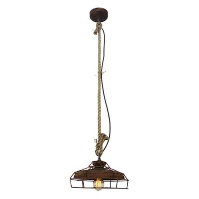 Lampadario Industriale Peter acciaio in metallo, D. 30 cm, BRILLIANT