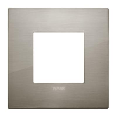 Placca VIMAR Arké 2 moduli acciaio spazzolato