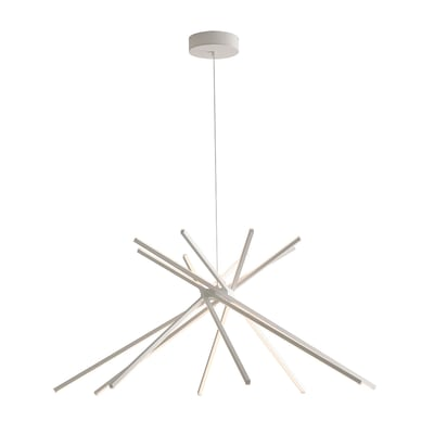 Lampadario Design Shanghai LED integrato bianco, in metallo, L. 160 cm, FAN EUROPE