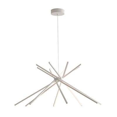 Lampadario Shanghai bianco, in metallo, diam. 113 cm,  LED 1 luce