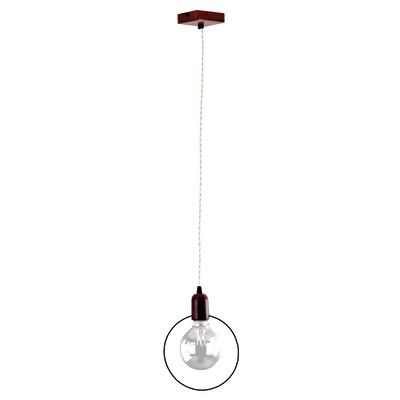 Lampadario Simply marrone, in metallo, diam. 20 cm, E27 MAX42W IP20