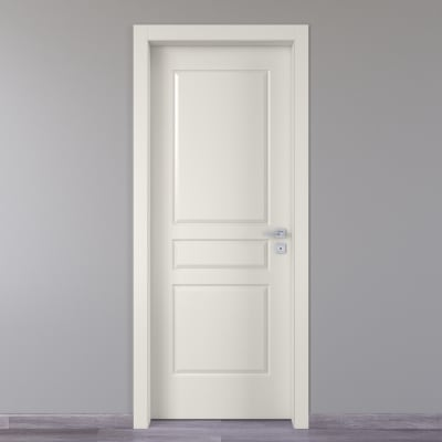 Porta a battente Chelsea bianco L 70 x H 210 cm sinistra
