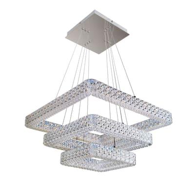 Lampadario Soledad trasparente, in acrilico,  LED 1 luce