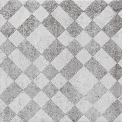 Piastrella Villa H 20 x L 20 cm PEI 4/5 grigio, bianco
