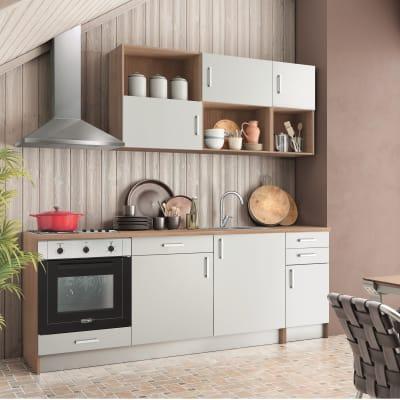 Cucina in kit one bianco L 220 cm
