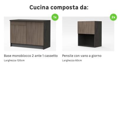 Cucina in kit one olmo L 120 cm