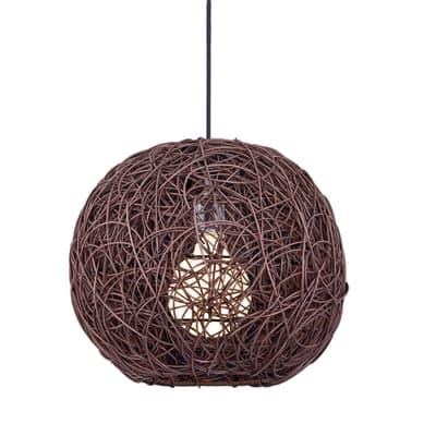 Lampadario Tirol marrone, in legno, diam. 35 cm, E27 MAX40W IP20