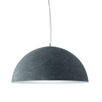 Lampadario Industriale Ardesia grigio in metallo, D. 60 cm, LUMICOM