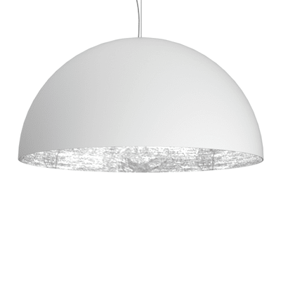 Lampadario bianco, platino in metallo , D. 40 cmLUMICOM