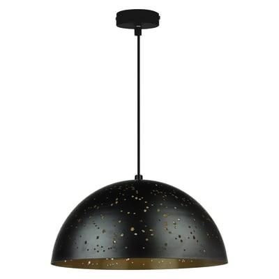 Lampadario ydro oro nero in metallo diam 40 cm e27 for Lampadario led leroy merlin