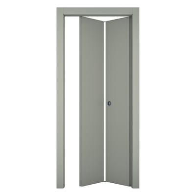 Porta pieghevole Cinder grigio L 70 x H 210 cm sinistra