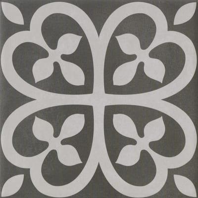 Piastrella Villandry H 20 x L 20 cm PEI 4/5 antracite