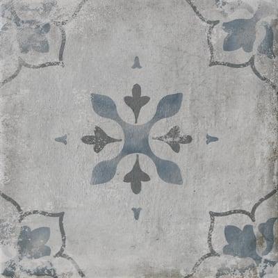 Piastrella Calvados dec H 20 x L 20 cm PEI 4/5 blu, grigio