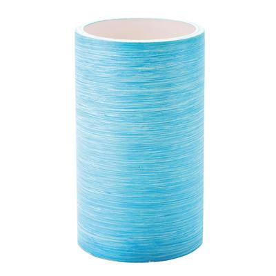 Bicchiere porta spazzolini Sole in resina azzurro