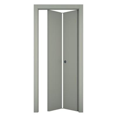 Porta pieghevole Cinder grigio L 80 x H 210 cm destra