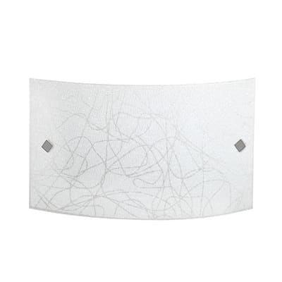 Applique classico Xina LED integrato multicolor, in vetro, 25x45 cm,