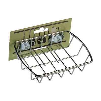 Barra sottopensile porta sapone in metallo 13 x 13 x 3 cm