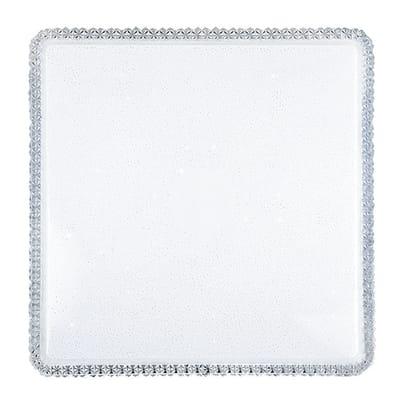 Plafoniera neoclassico Soledad LED integrato bianco55x55 cm,