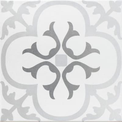 Piastrella Gatsby H 20 x L 20 cm PEI 4/5 bianco, grigio