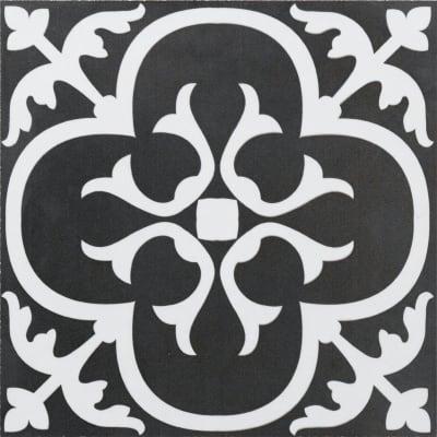 Piastrella Gatsby H 20 x L 20 cm PEI 3/5 bianco, nero