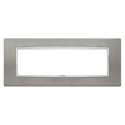 Placca VIMAR Eikon 7 moduli titanio matt