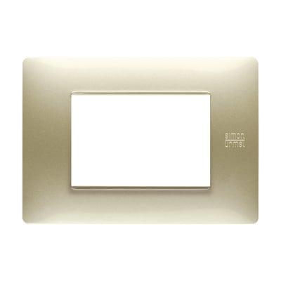 Placca SIMON URMET Nea Flexa 3 moduli oro satinato